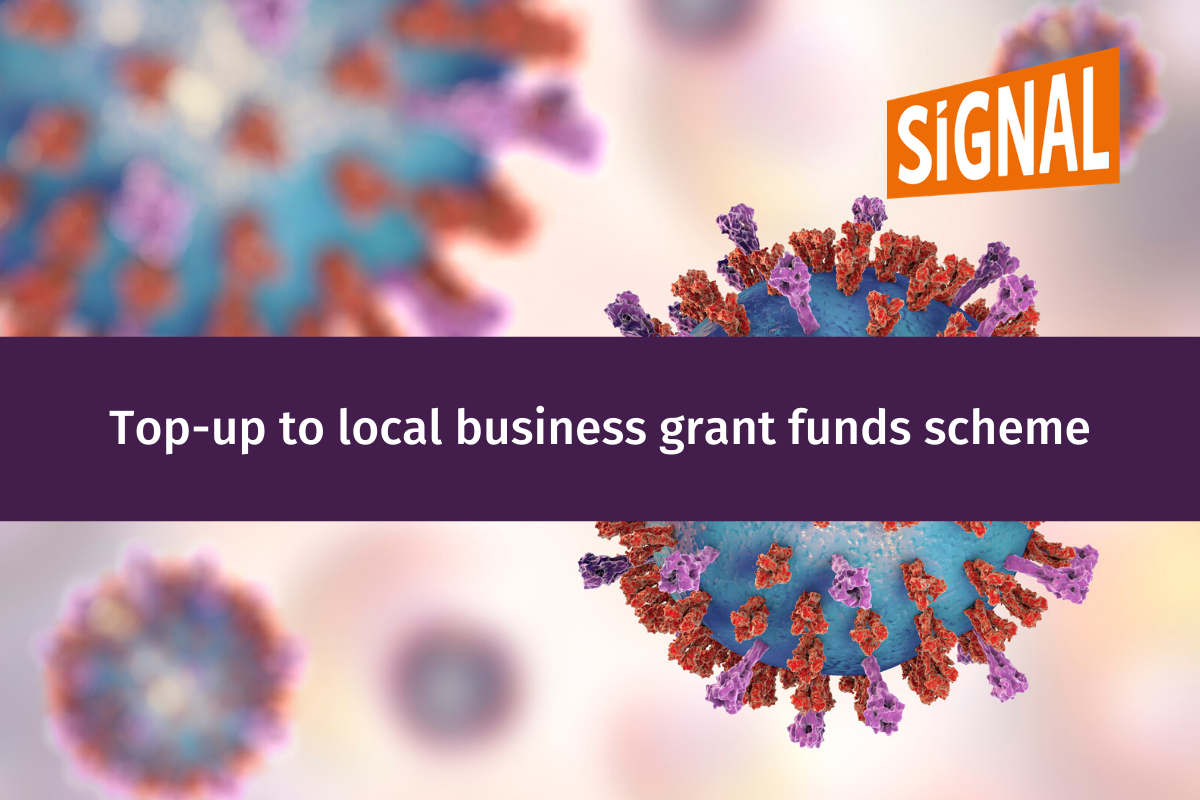 Top-up to local business grant funds scheme