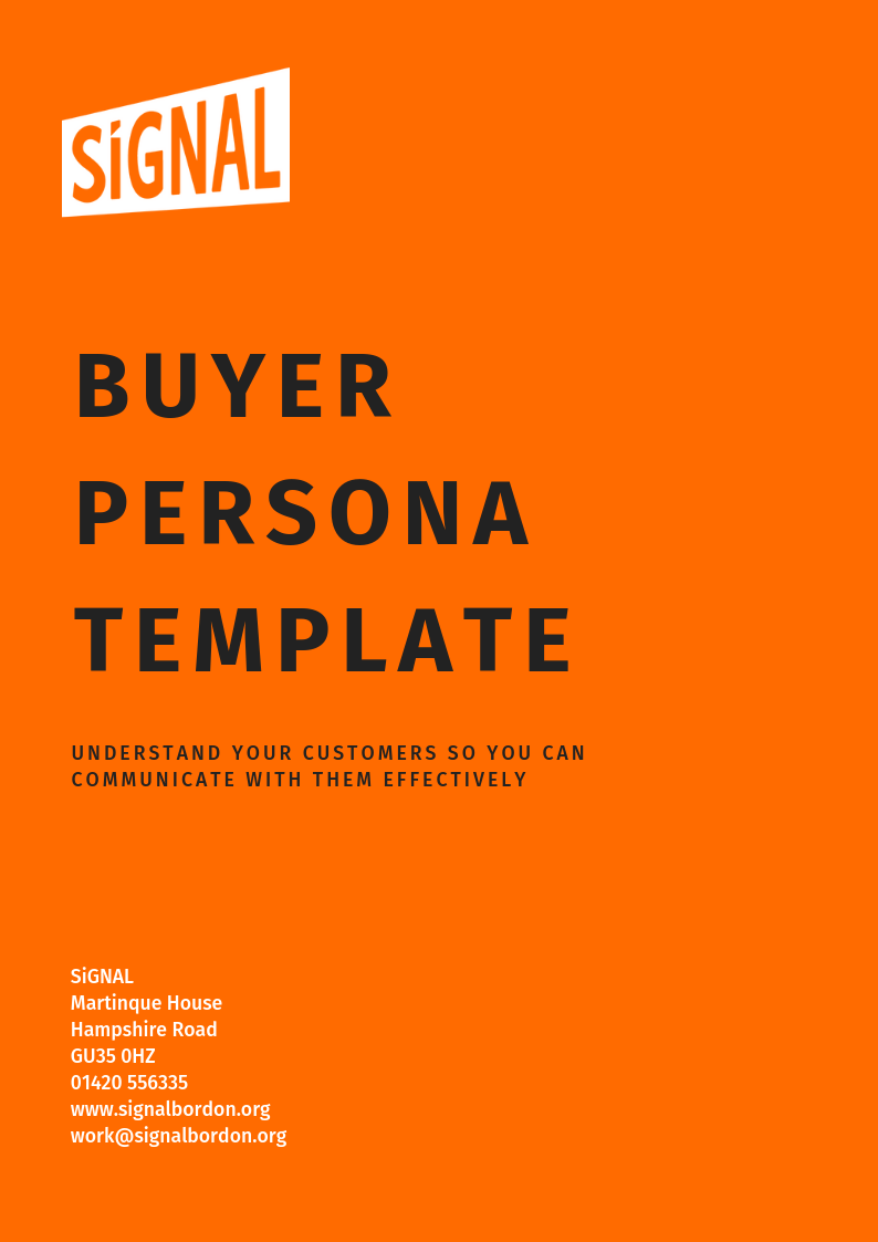 SiGNAL Buyer Persona Template